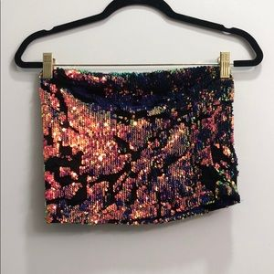 NWT UO Sequin Tube Top